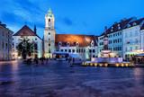 Bratislava Old Town Main Market Square at Night in Slovakia