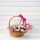 basket with tulips - 188082155