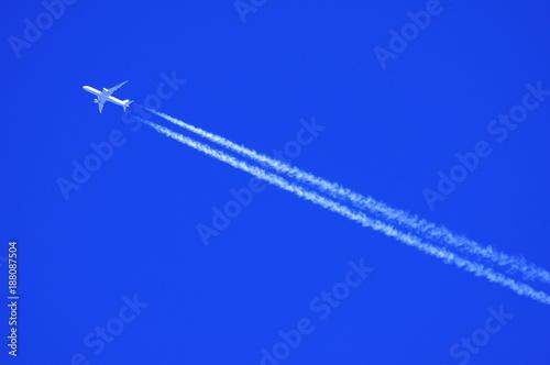 obraz lub plakat 青空とひこうき雲