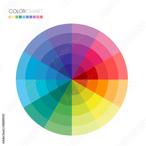 Useful Color Wheel Guide With Shades Buy Photos Ap Images