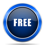 Free vector icon. Modern design blue silver metallic glossy web and mobile applications button in eps 10 - 188097392