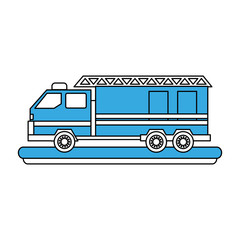Fire truck vehicle icon vector illustration graphic design