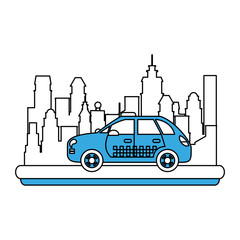 Taxi cab vehicle icon vector illustration graphic design