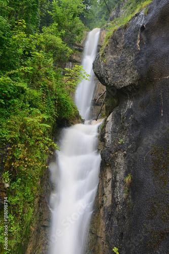 Foto Murales Waterfall in Hallstatt