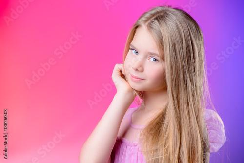 blonde cute girl - 188106503