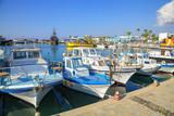 Fishing boats and yachts in harbor of Ayia Napa, Cyprus.