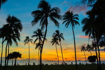 Sunset on Waikaki Beach - Horizontal