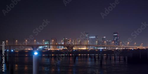 Aluminium Abu Dhabi Abu Dhabi city at night