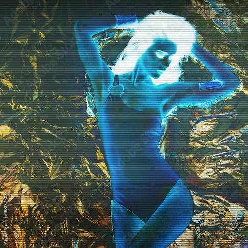 stylized photo of dancing girl - 188137508