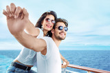 Romantic couple relaxing on the ferry - 188141593