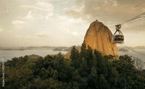 Sugarloaf Cable Car (Bondinho do Pao de Acucar) in Rio de Janeiro, Brazil