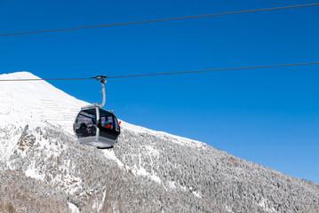 Cable car in alpine ski resort, Solda (Sulden), Italy