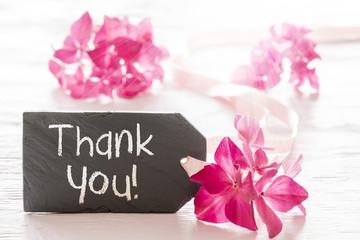Hydrangea Blossom, Text Thank You