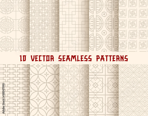 Oriental or asian seamless pattern background © Vector Tradition