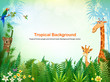 Jungle or Zoo Themed Animal Background - 188151366
