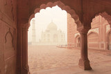 Taj Mahal epic traditional architecture view at sunrise