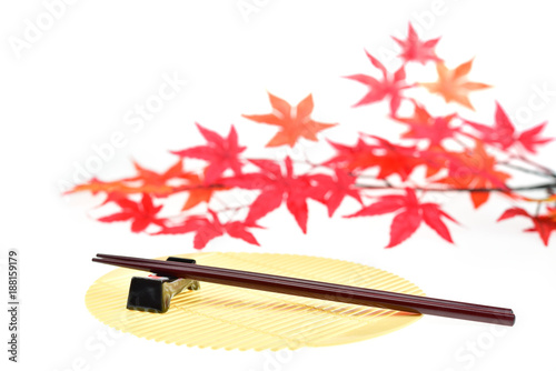 chopsticks isolated on white background