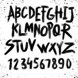 Alphabet poster, dry brush ink artistic modern calligraphy print. Handdrawn trendy design - 188160320