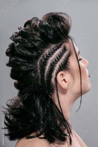 Foto Murales Woman with creative hairstyle