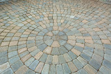Circular Pattern Brick Garden Patio