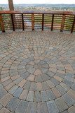 Circular Brick Garden Patio View Deck