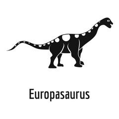 Europasaurus icon. Simple illustration of europasaurus vector icon for web.