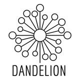 Torn dandelion logo icon. Simple illustration of torn dandelion vector icon for web.