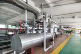 Modern boiler room, steam and hot water generation. - 188175700