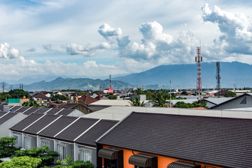 Scenery of Bandung City from Rooftop
