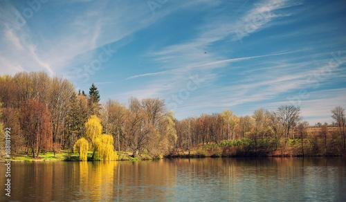 Foto Murales landscape park sophia Ukraine Uman early spring