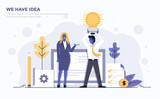 Flat Modern Concept Illustration - We have idea - 188182172