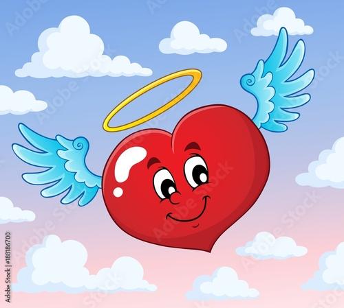 Deurstickers Voor kinderen Valentine heart topic image 5