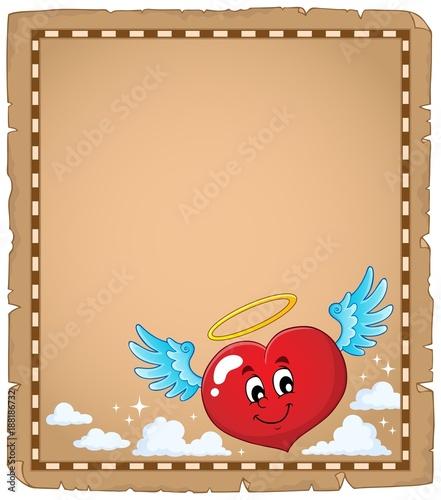 Deurstickers Voor kinderen Valentine heart topic parchment 3