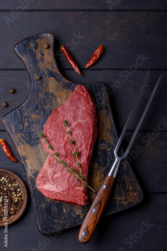 Fotobehang Steakhouse Beef steak and fork
