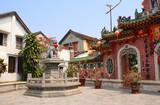 Ancient lion statue, Chinese temple Quan Cong, Hoi An, Vietnam