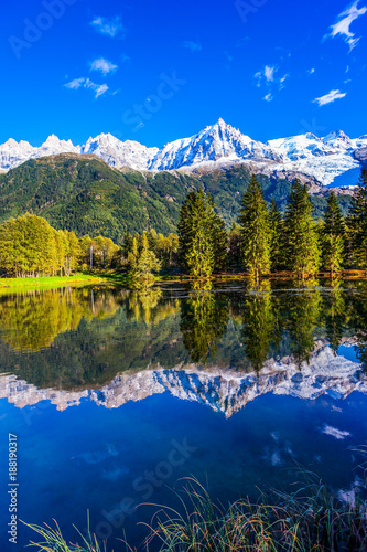 Reflections of snowy peaks - 188190317