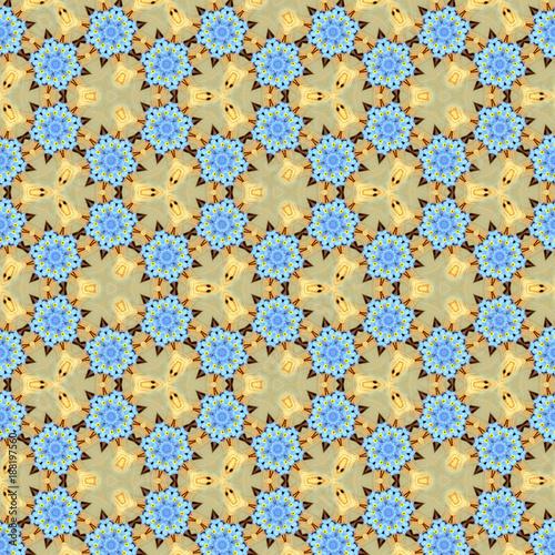 seamless pattern Flower Kaleidoscope Pattern - 188197560