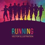 Running marathon, pe...