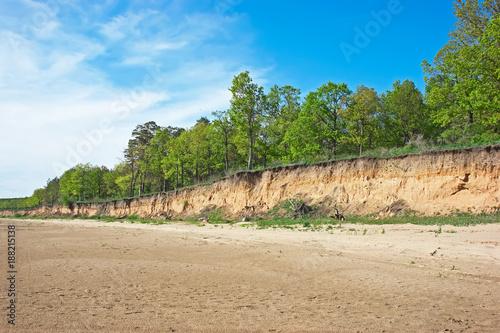 Foto Murales steep bank of the river
