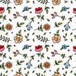 Cute cartoon floral seamless pattern - 188218140