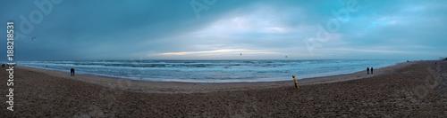 In de dag Noordzee Strandpanorama von der holländischen Nordseeküset