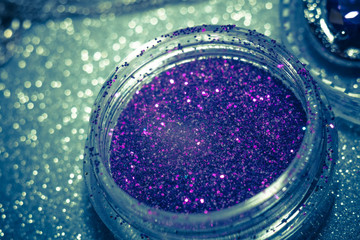 Purple and Silver Glitter Filtered