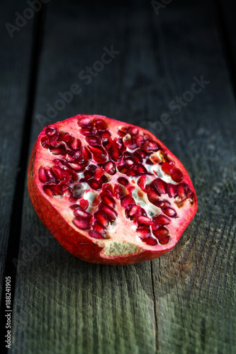 Ripe pomegranate close-up