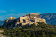 Panoramic view of the Parthenon temple on the Acropolis in Athens Greece