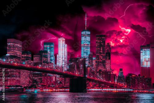 Foto op Aluminium New York Photo-Art of Stranger Things in New York City