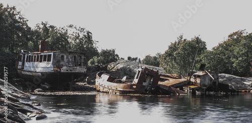 Foto Murales Boat graveyard