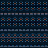 Blue tribal seamless  pattern.
