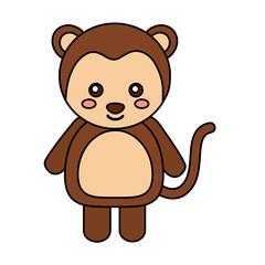 monkey cute animal icon image vector illustration design