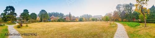Fototapeta Campus in autumn. Located in Peking University, Beijing, China.