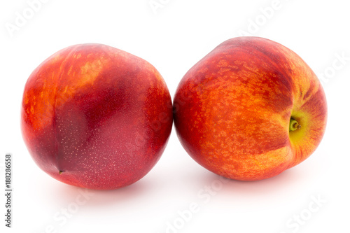 Foto Murales Peach. Fruit with isolated on white background.